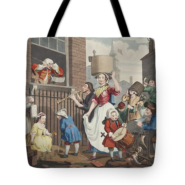 The Enraged Musician, Illustration Tote Bag by William Hogarth