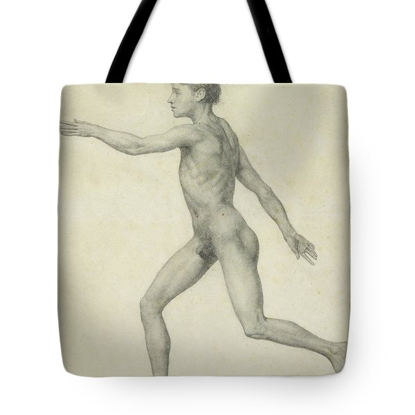 The Entire Human Figure From The Left Lateral View Tote Bag by George Stubbs