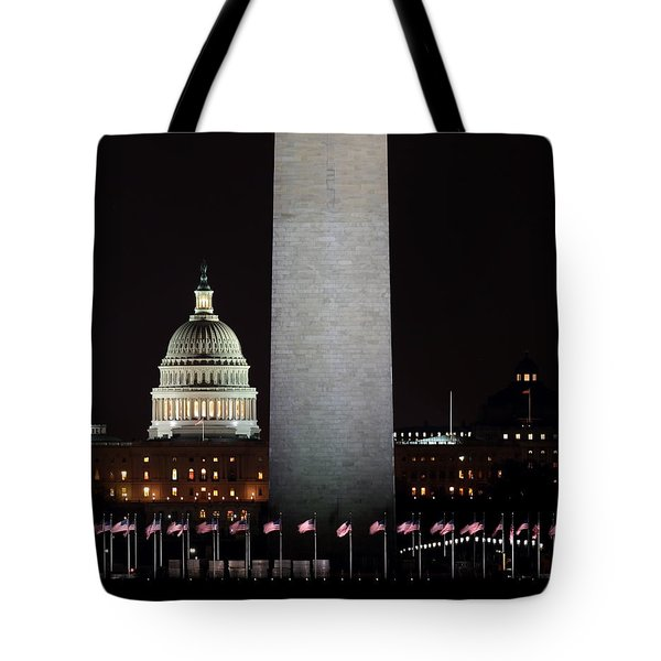 The Essence Of Washington At Night Tote Bag