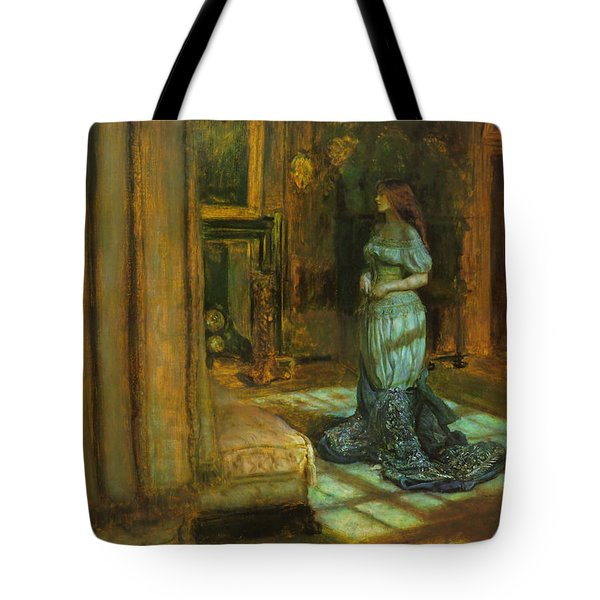 The Eve Of St Agnes Tote Bag by John Everett Millais