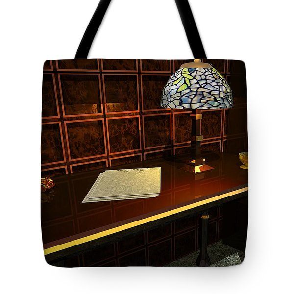 The Evening News Tote Bag by John Pangia