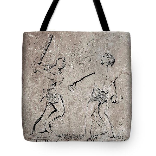 The Evolution Of Baseball Tote Bag by John Malone