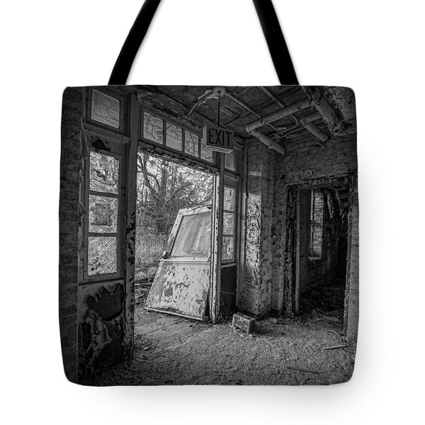 The Exit Bw Tote Bag