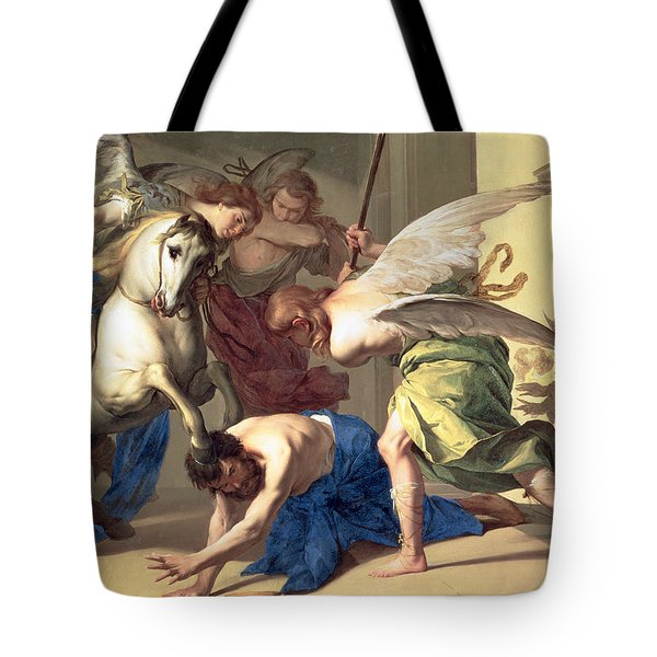 The Expulsion Of Heliodorus From The Temple Tote Bag