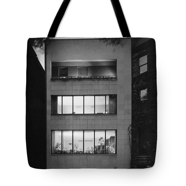 The Exterior Of A Modern Townhouse Tote Bag