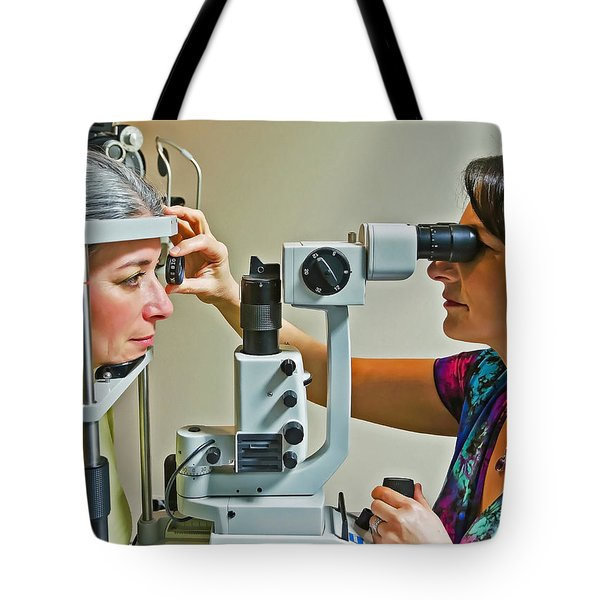 Tote Bag featuring the photograph The Eye Doctor by Keith Armstrong