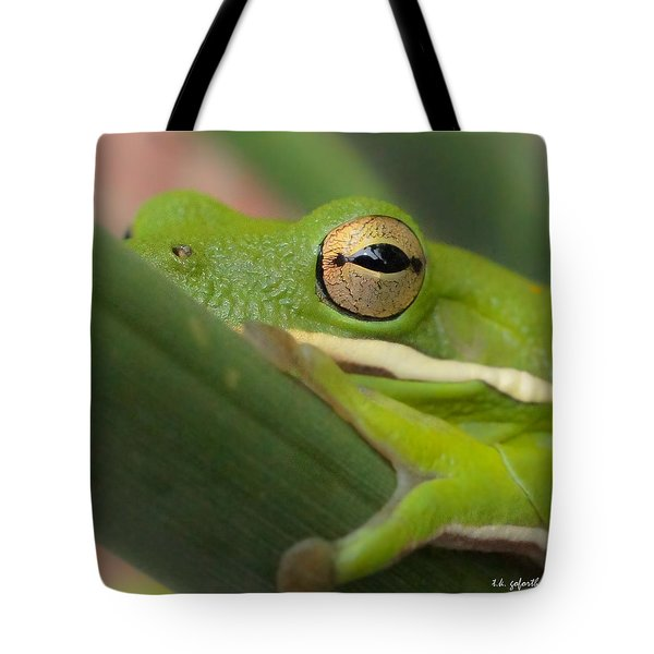 The Eye Has It Squared Tote Bag by TK Goforth