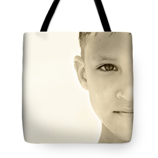 The Eye Of A Child Tote Bag