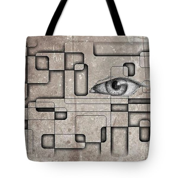 The Eye Of Big Brother Tote Bag by John Malone