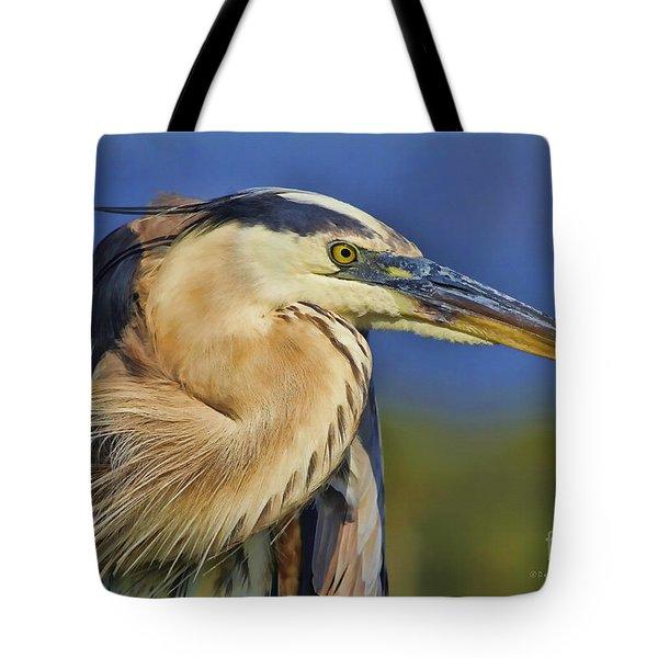The Eye Of Blue Tote Bag by Deborah Benoit