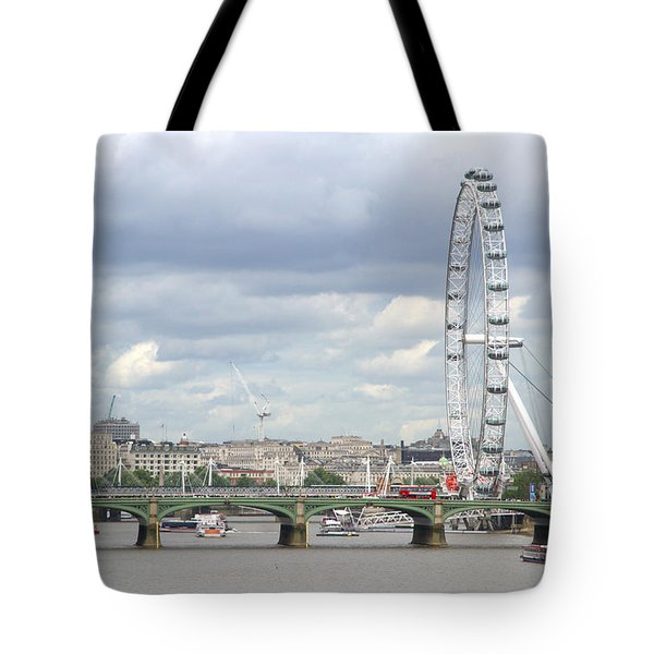 Tote Bag featuring the photograph The Eye Of London by Keith Armstrong