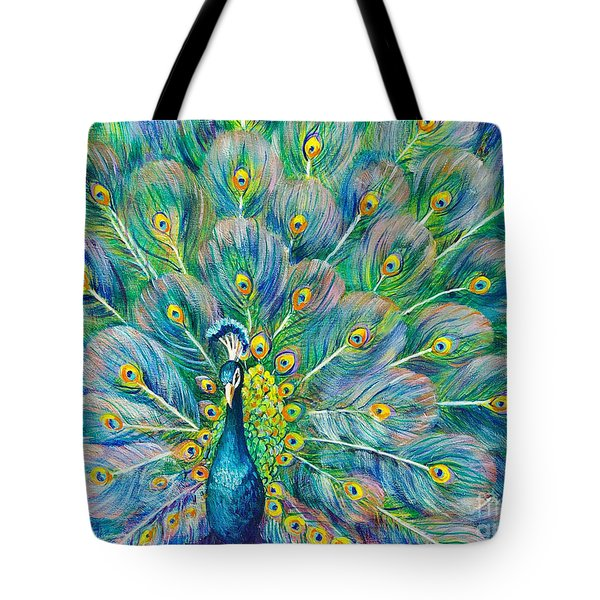 Tote Bag featuring the painting The Eyes Have It by Nancy Cupp