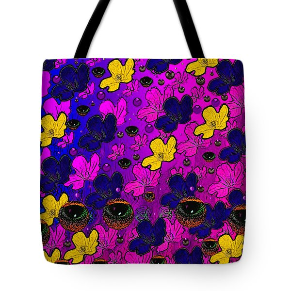The Eyes Of Mother Nature Serve And Protect Tote Bag by Pepita Selles