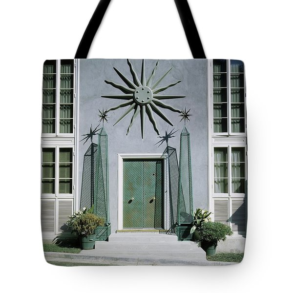 The Facade Of Tony Duquette's House Tote Bag