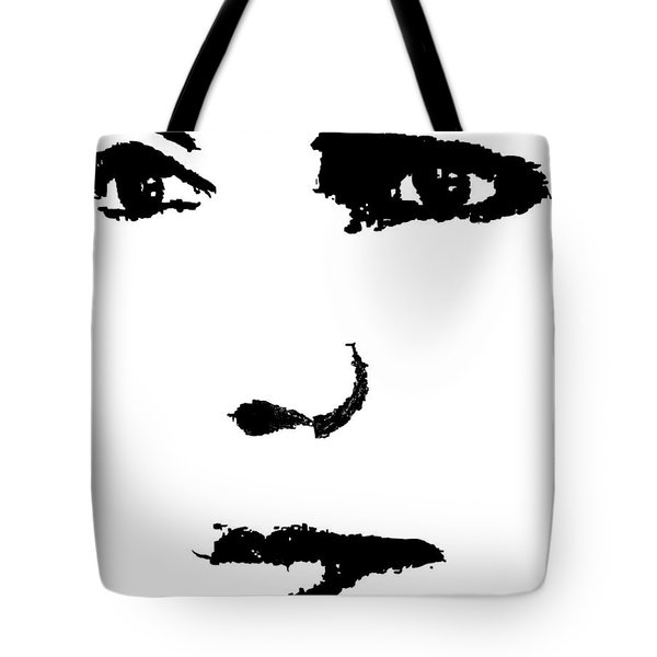 Tote Bag featuring the painting The Face by Cherise Foster
