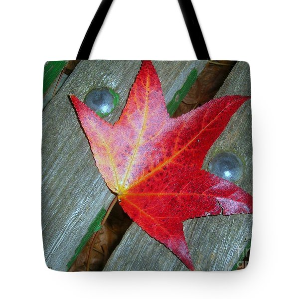 Tote Bag featuring the photograph The Face Of Autumn by Leanne Seymour