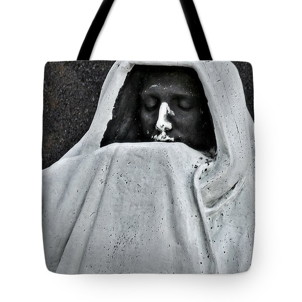 The Face Of Death - Graceland Cemetery Chicago Tote Bag by Christine Till