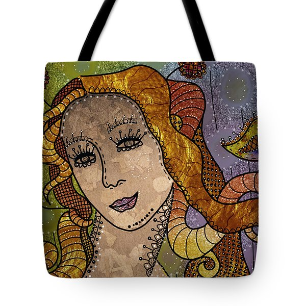 Tote Bag featuring the digital art The Fairy Godmother by Barbara Orenya