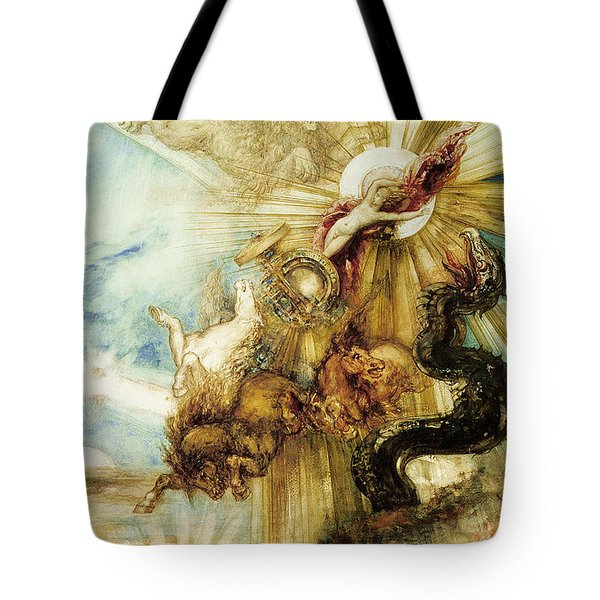 The Fall Of Phaethon Tote Bag by Gustave Moreau