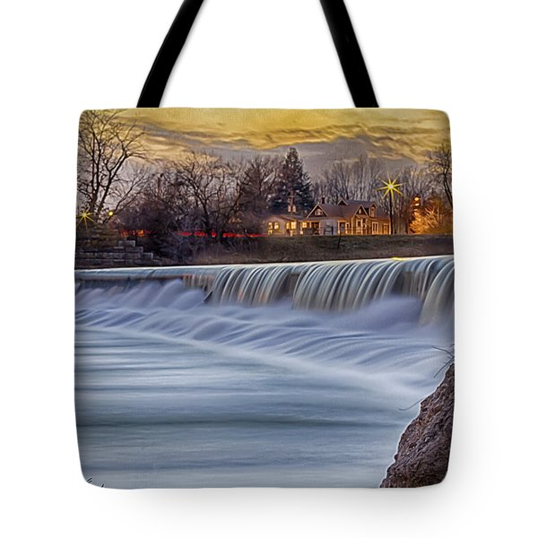 The Falls Of White River Tote Bag