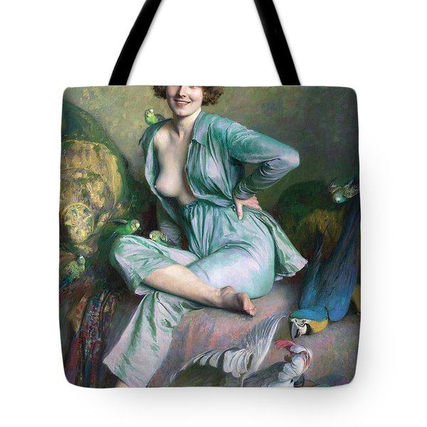 Tote Bag featuring the painting The Familiar Birds by Emile Friant