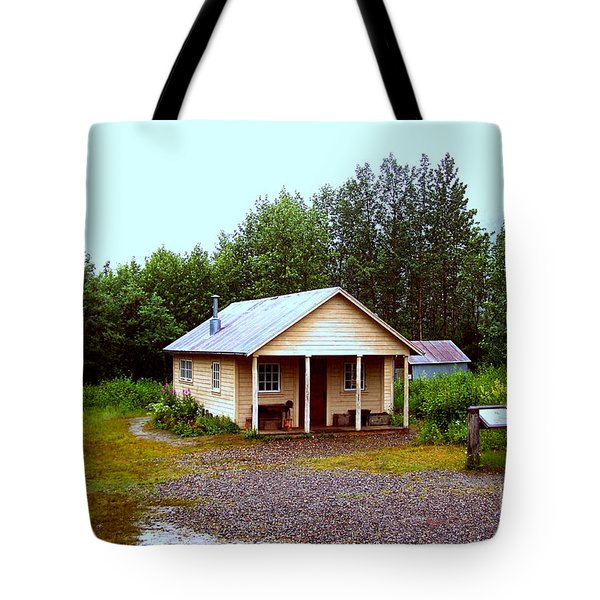 The Famous Cabin Of Fannie Quigley Tote Bag by Kathy  White