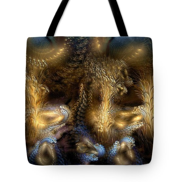 Tote Bag featuring the digital art The Far Country by Casey Kotas