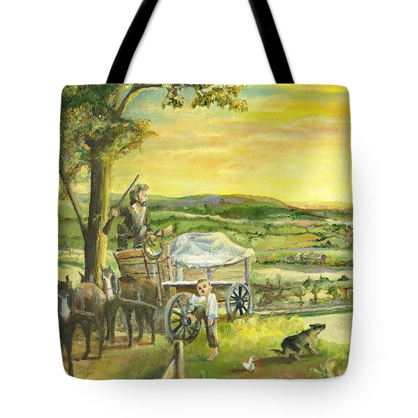 The Farm Boy And The Roads That Connect Us Tote Bag