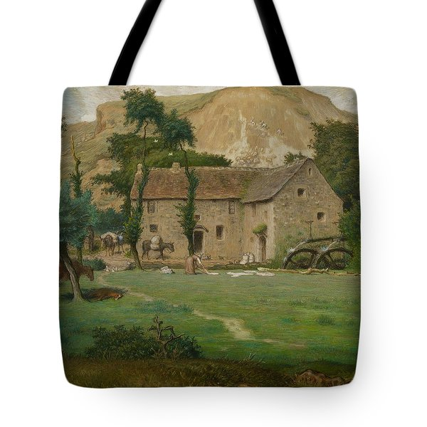 The Farm House Tote Bag by Jean Francois Millet