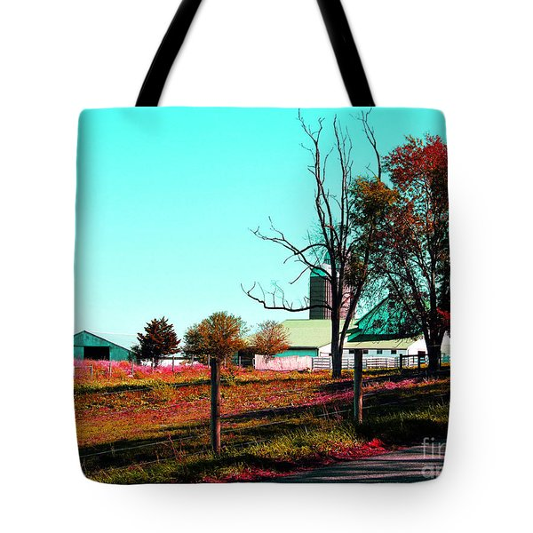 The Farmland In Autumn Tote Bag by Tina M Wenger