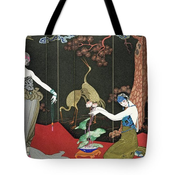 The Fashion For Lacquer Tote Bag by Georges Barbier