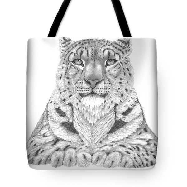 Tote Bag featuring the drawing The Fearless Tiger by Patricia Hiltz
