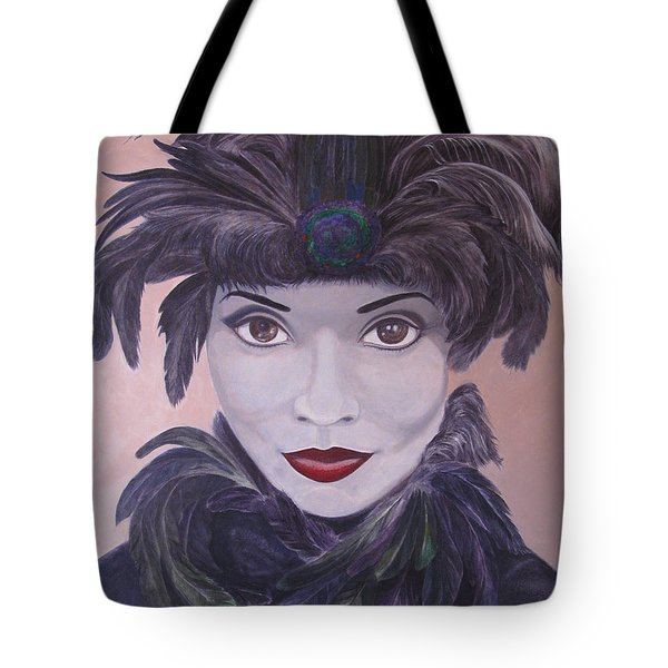 The Feathered Lady Tote Bag by Leonard Filgate