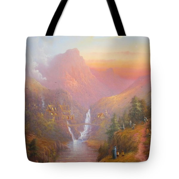 The Fellowship Of The Ring Tote Bag by Joe  Gilronan