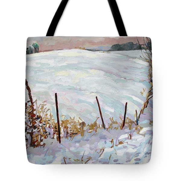 The Fence Line Tote Bag by Phil Chadwick