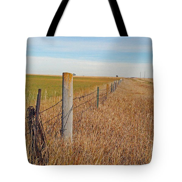 The Fence Row Tote Bag by Mary Carol Story