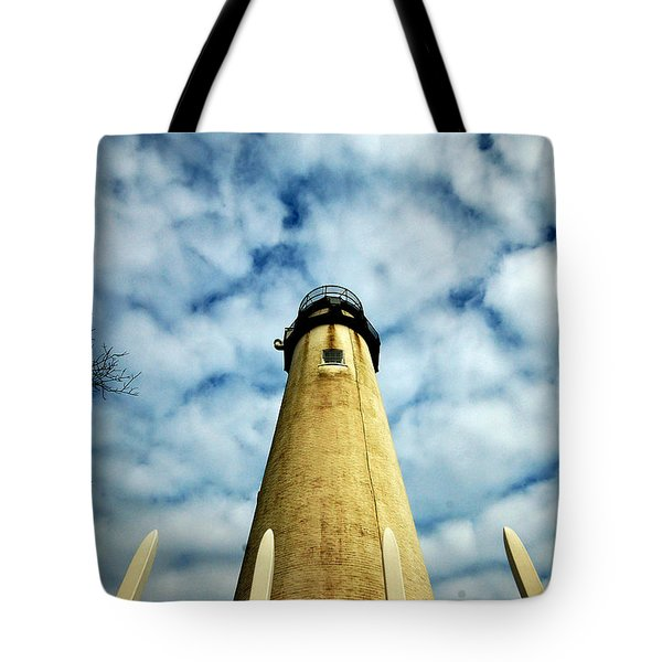 The Fenwick Light And A Mackerel Sky Tote Bag
