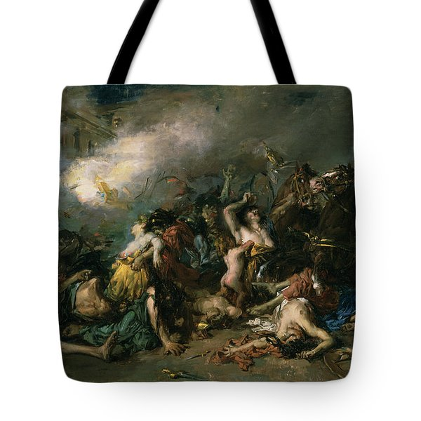 The Final Day Of Sagunto In 219bc, 1869 Oil On Canvas Tote Bag