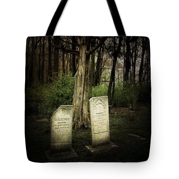 The Final Resting Place Of Ambros And Brazilla Ivins Tote Bag by Cynthia Lassiter