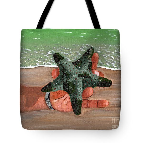 Tote Bag featuring the painting The Find by Laura Forde