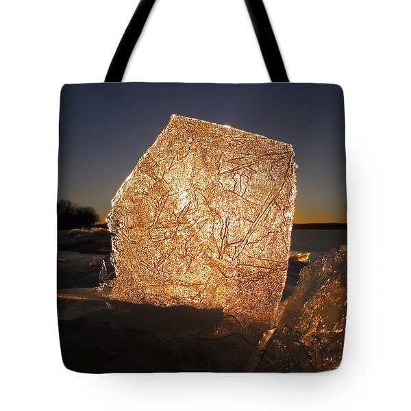 Tote Bag featuring the photograph The First Ice ... by Juergen Weiss