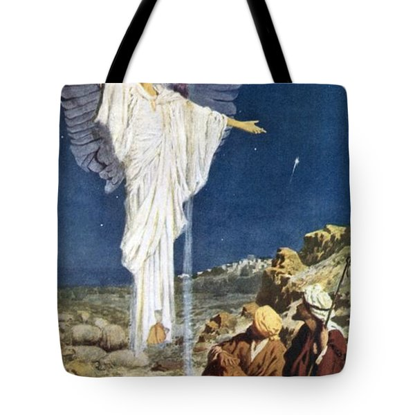 The First Noel Tote Bag by William Henry Margetson