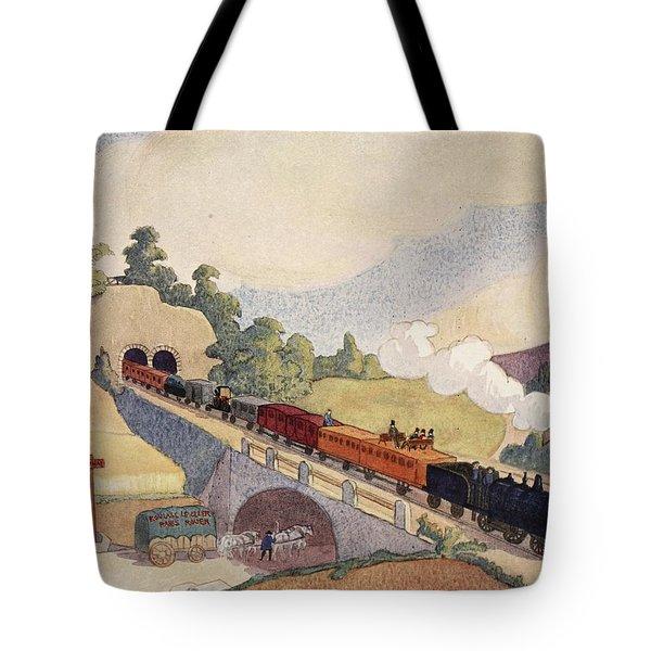 The First Paris To Rouen Railway, Copy Tote Bag
