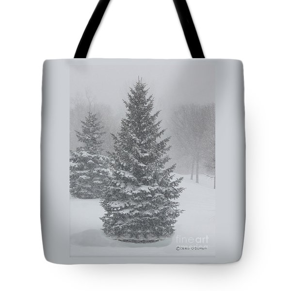 The First Snow Of Christmas Tote Bag