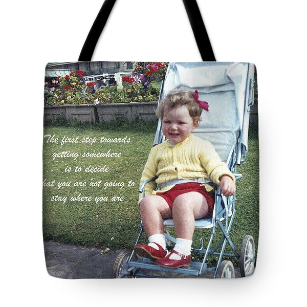 The First Step Tote Bag by Terri Waters