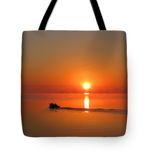 The Fish Are Waiting Tote Bag