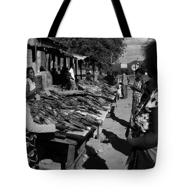 The Fish Market Tote Bag by Aidan Moran