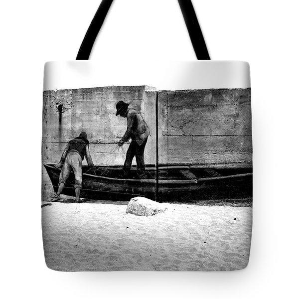 The Fishermen And The Sea... Tote Bag by Chiara Corsaro