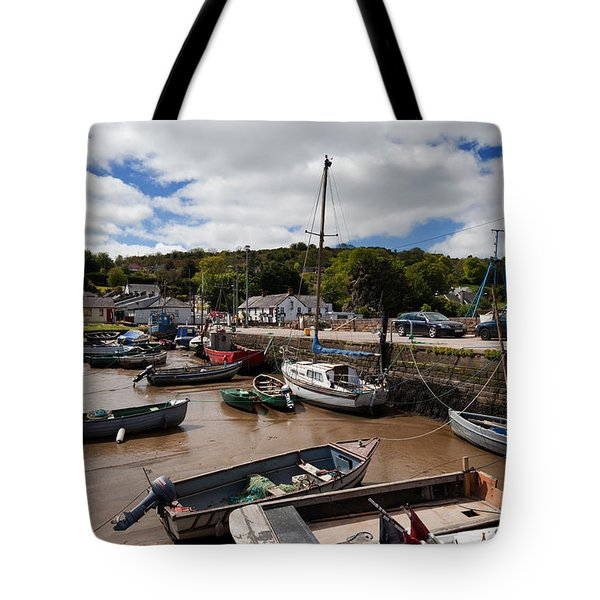 The Fishing Harbour At Cheekpoint Tote Bag