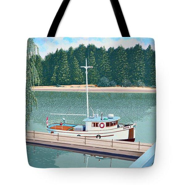The Converted Fishing Trawler Gulvik Tote Bag